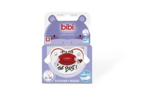Bibi - Soother Silicone - Papa Is The Best -6 - 16 Months